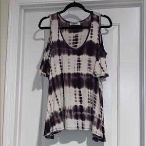 Type Dye Peek-a-boo Shoulder Top
